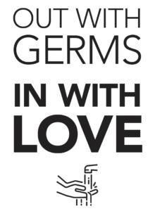 coronavirus nova salon sign