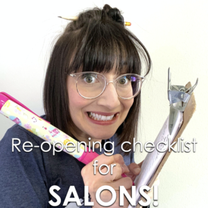 re-opening checklist for salons